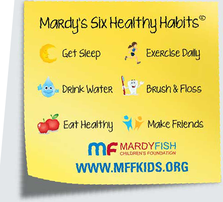 "Mardy Fish Children's Foundation's ""Six Healthy Habits"" Will Serve You Well In This COVID-19 Era"