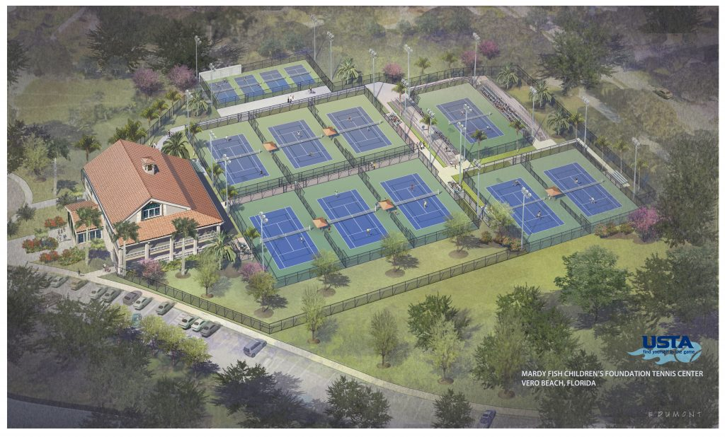 Rendering For Refurbished Riverside Park Tennis Complex