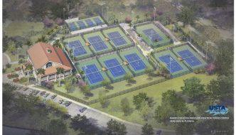 Rendering For Refurbished Riverside Park Tennis Complex