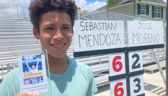 Vero Beach High School's Top Player Sebastian Mendoza Wins Special UTR Event  at The Boulevard