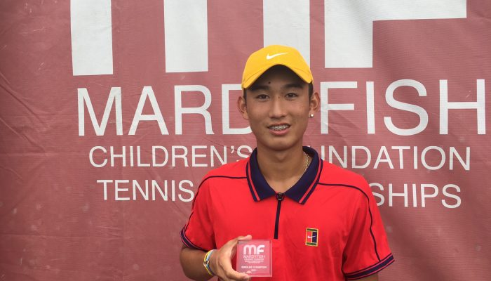 Sixteen-year-old Jerry Shang Wins 2021 Mardy Fish Children's Foundation Tennis Championships
